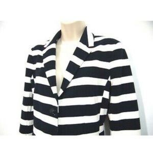 GAP Jackets & Coats - Gap Academy Blazer 6 Striped Nautical Ponte Knit 6